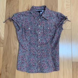 Tommy Hilfiger Floral Short Sleeve Button Down